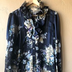 Elizabeth and James Floral Ruffle Blouse